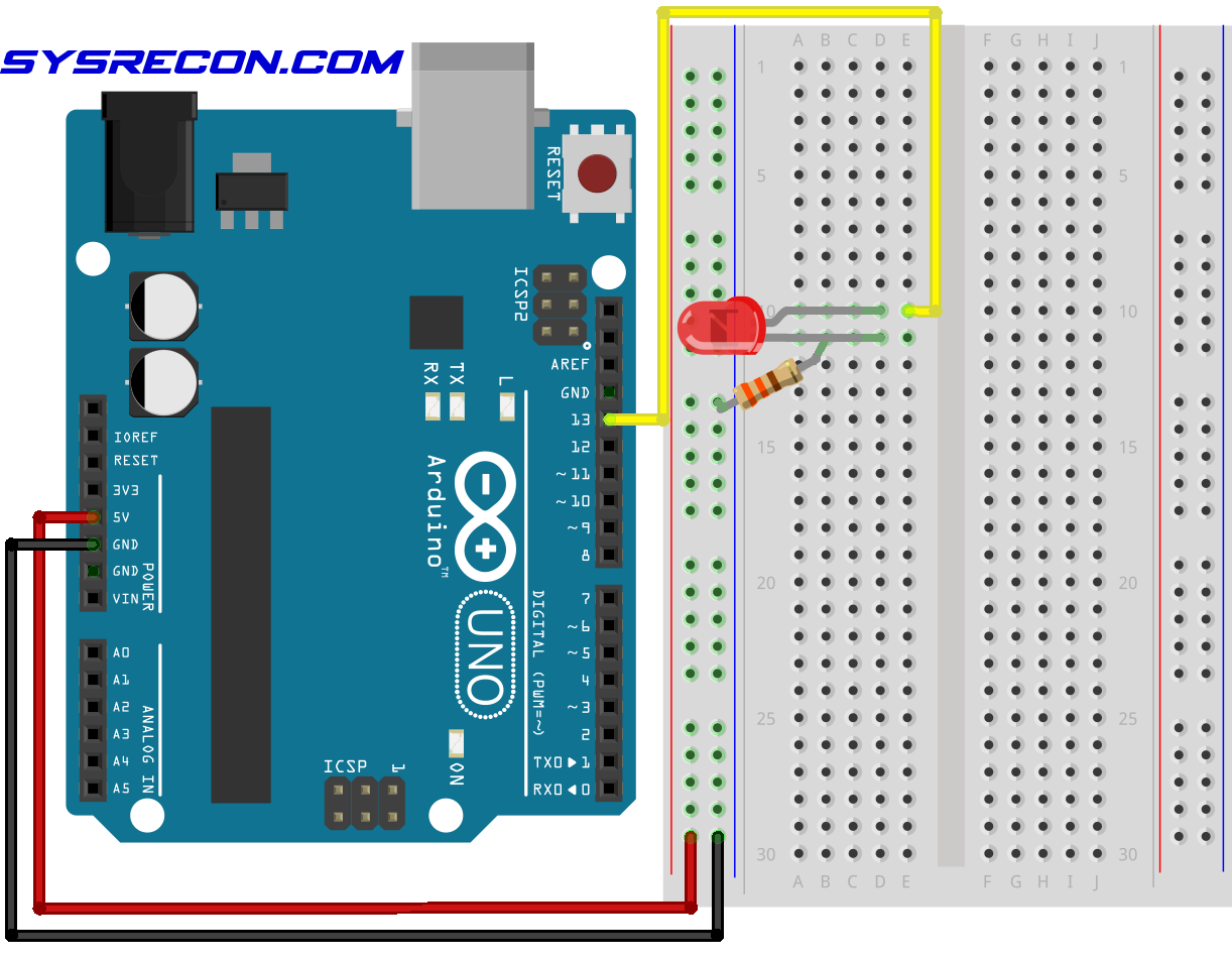 Arduino Breadboard Clone How To Make An Led Blink