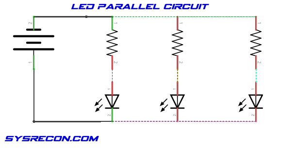 LED Parallel Circuit Schematic