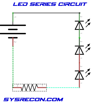 LED Series Circuit Schematic