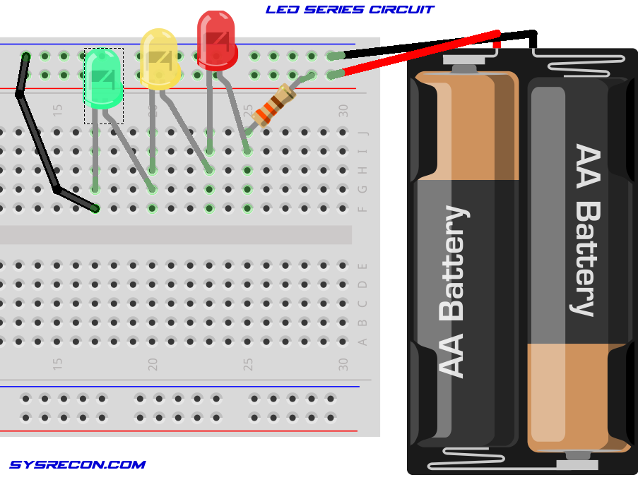 LEDSeries Circuit Breadboard