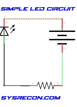 Simple LED Circuit Schematic